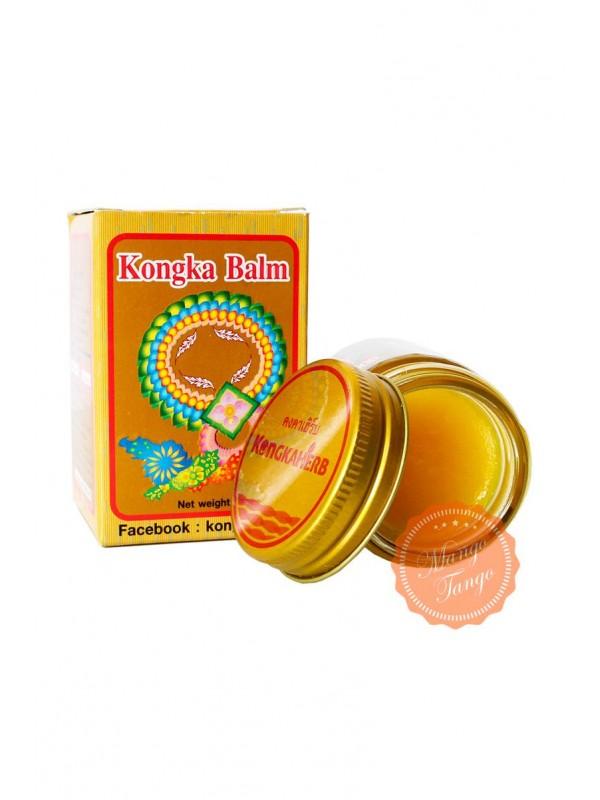 Тайский золотой бальзам с имбирём. Gold Balm KongkaHerb. - 1